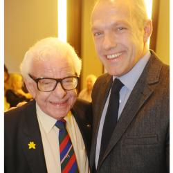 Barry Cryer with his son