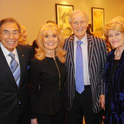 Michael Black, Julie Rogers, Nicholas Parsons and his wife Ann