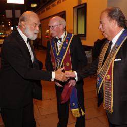 HRH Prince Michael arrives