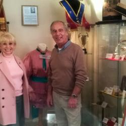 Dame Barbara Windsor with Curator Ken Joy